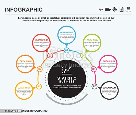 Business world circle infographic, infographic, business, timeline, icon
