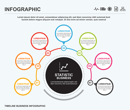 Business world circle infographic