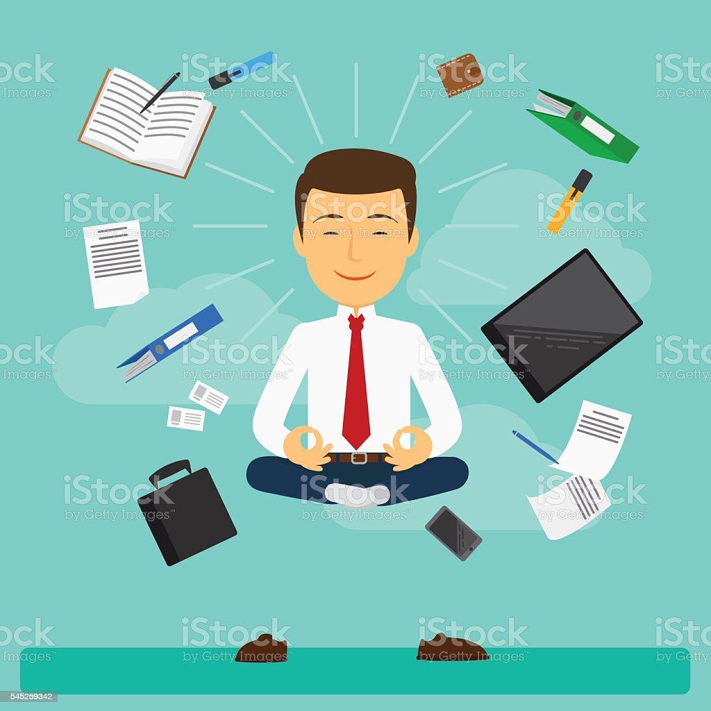 Business yoga vector illustration vector art illustration