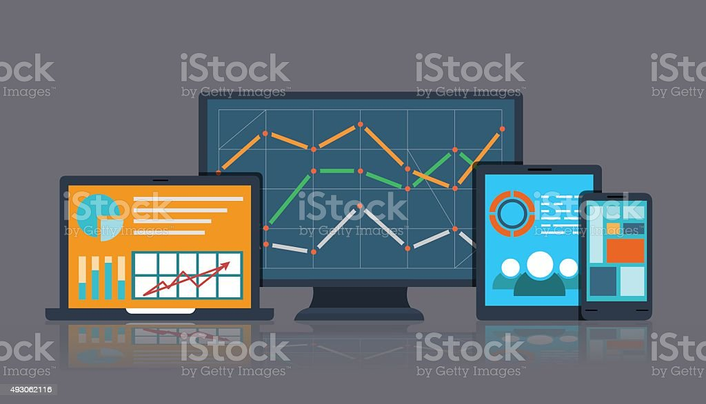 Business_Info vector art illustration