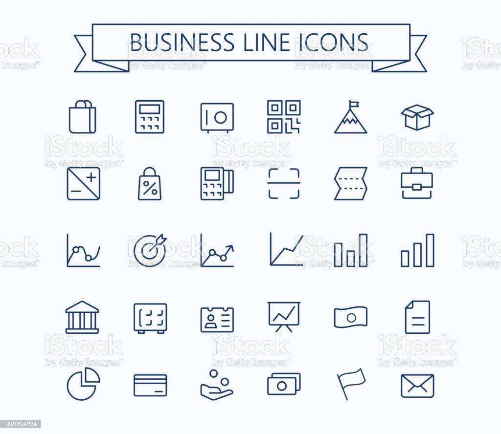 Business,finance vector thin line mini icons set. 24x24 Grid. Pixel Perfect.Editable stroke.