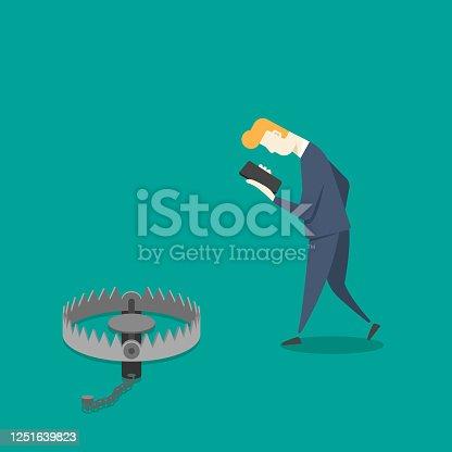 istock Businessman addicted to smartphone 1251639823