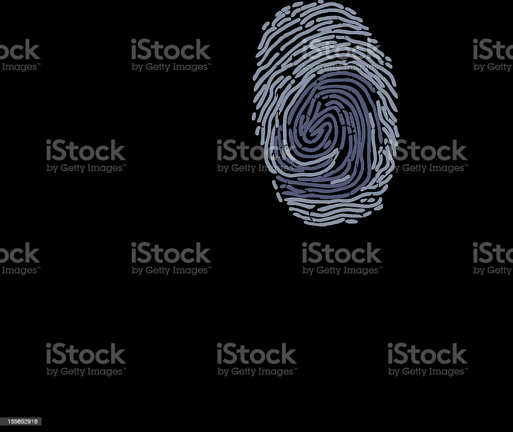 businessman & fingerprint royalty-free stock vector art