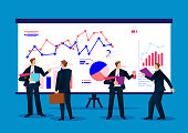 Businessman analyzing business data report of dashboard
