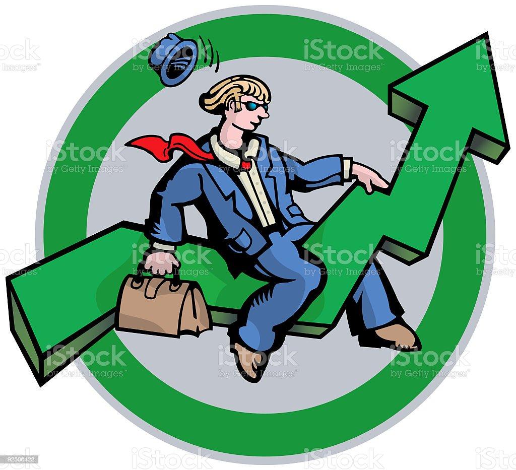 Businessman and Arrow (vector) royalty-free businessman and arrow stock vector art & more images of adventure