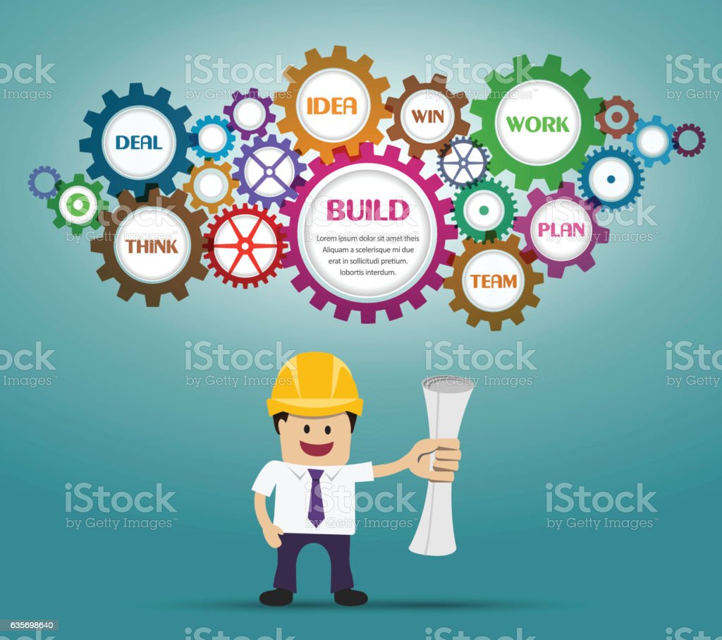 Businessman and building plan royalty-free businessman and building plan stock vector art & more images of adult