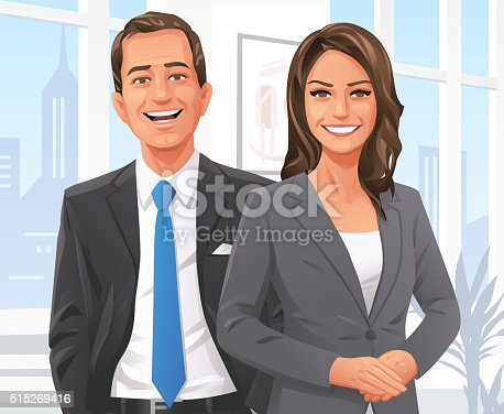istock Businessman And Businesswoman In The Office 515269416