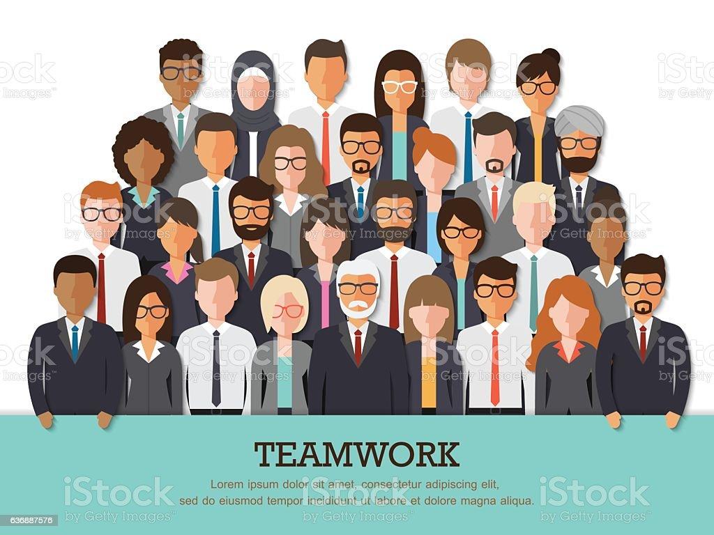 Businessman and businesswoman team - Illustration vectorielle