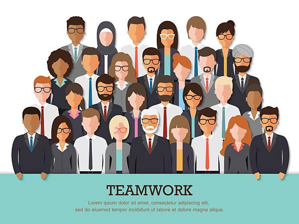 illustrations, cliparts, dessins animés et icônes de businessman and businesswoman team - professeur d'université