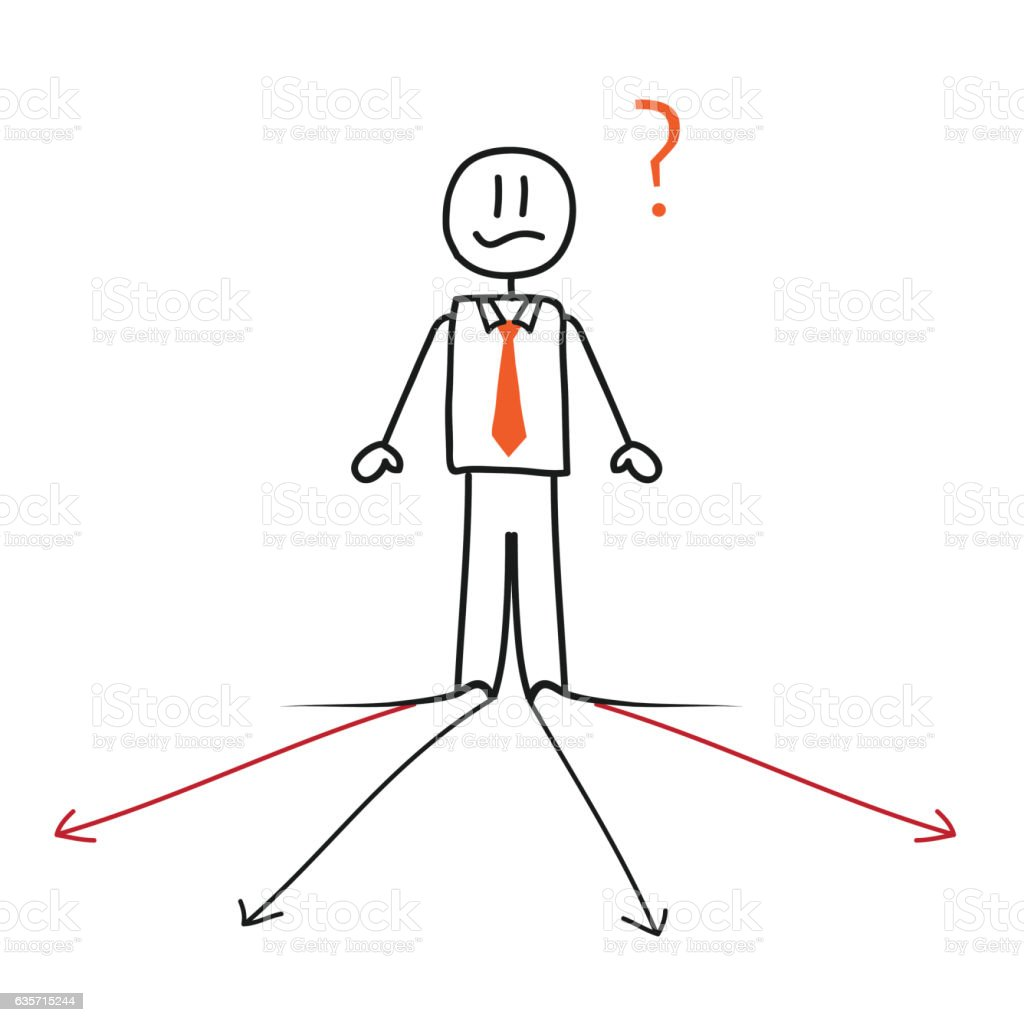 Businessman and direction arrows royalty-free businessman and direction arrows stock vector art & more images of adult