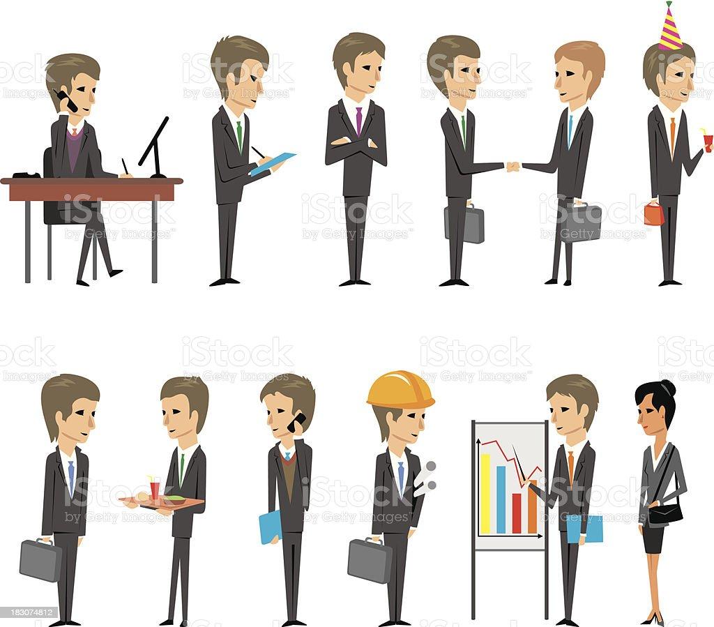 ビジネスマンおよび会社員 - itプロフェッショナルのベクターアート素材