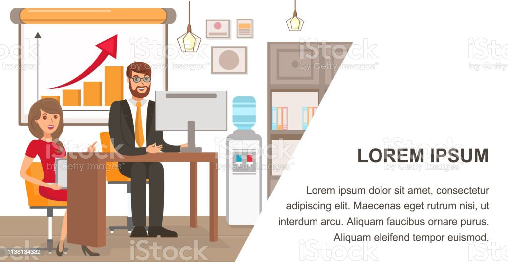 Businessman And Personal Assistant Banner Template Stock Illustration Download Image Now Istock