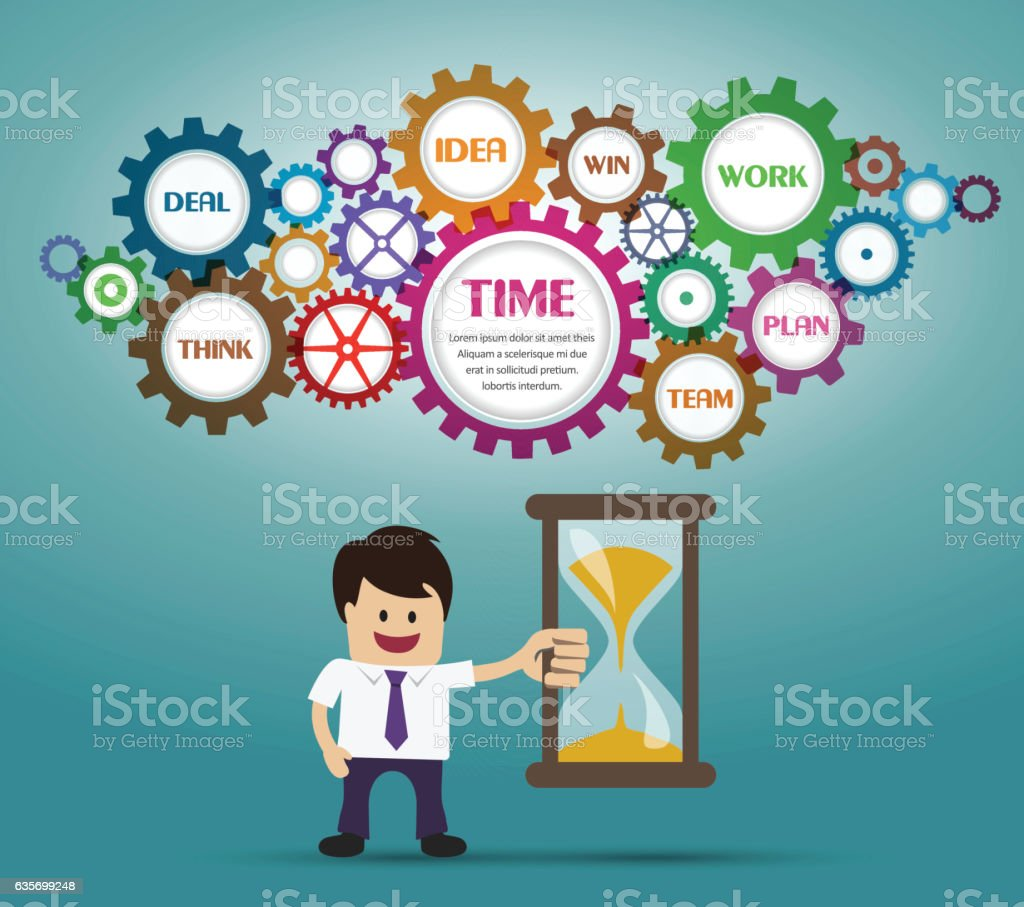 Businessman and timer royalty-free businessman and timer stock vector art & more images of adult