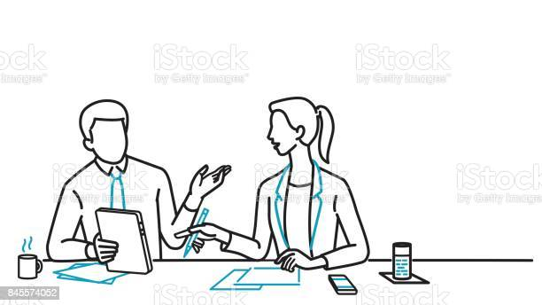Businessman and woman discussing vector id845574052?b=1&k=6&m=845574052&s=612x612&h=chfzojmel viwobemyo0n eevkl8w3qncknzsbrdzww=