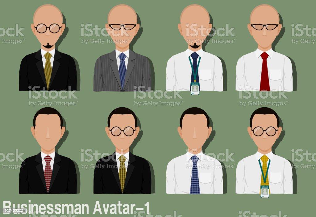 Businessman Avatar-1 vector art illustration