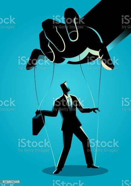 꼭두각시 마스터에 의해 제어 되는 사업 감독에 대한 스톡 벡터 아트 및 기타 이미지