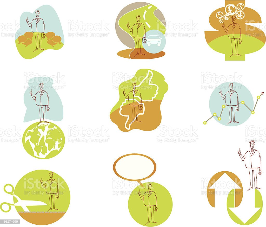 businessman bob icons royalty-free businessman bob icons stock vector art & more images of agreement