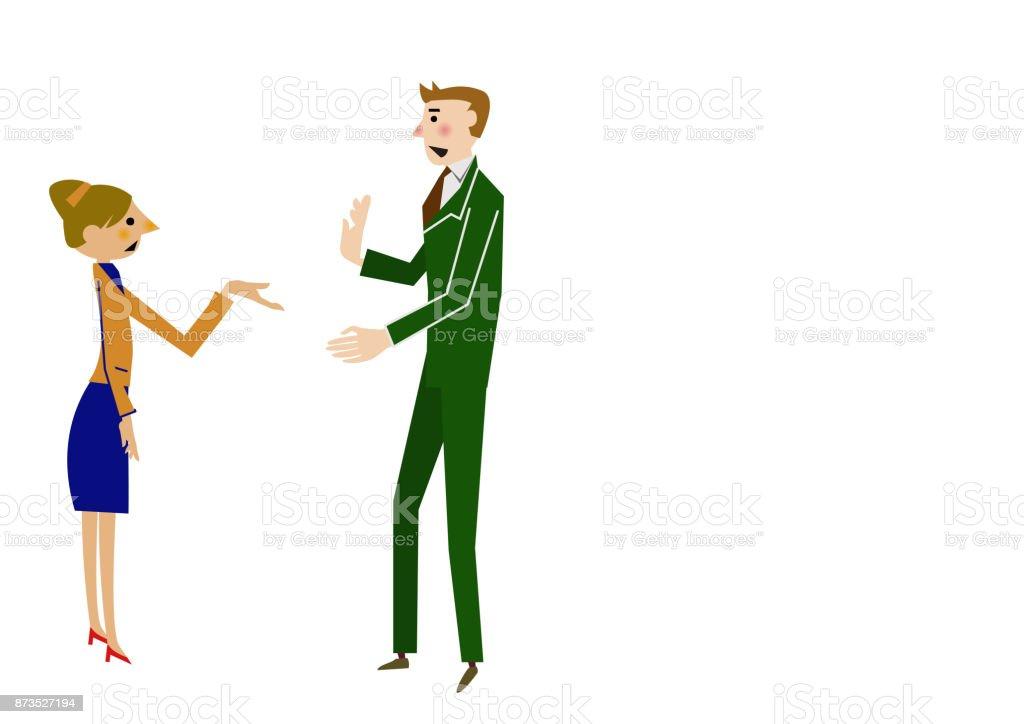 Business scene clip art.