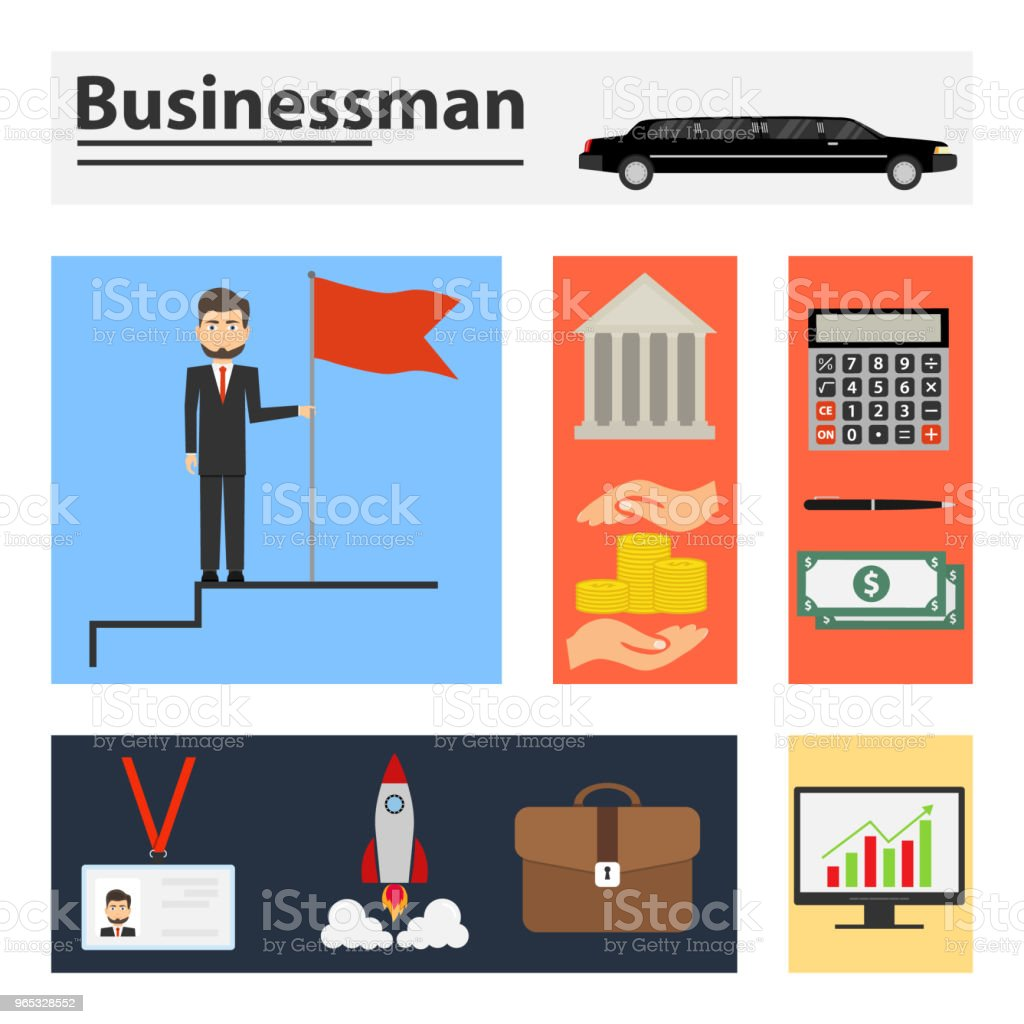 Businessman, businessman accessories. royalty-free businessman businessman accessories stock illustration - download image now