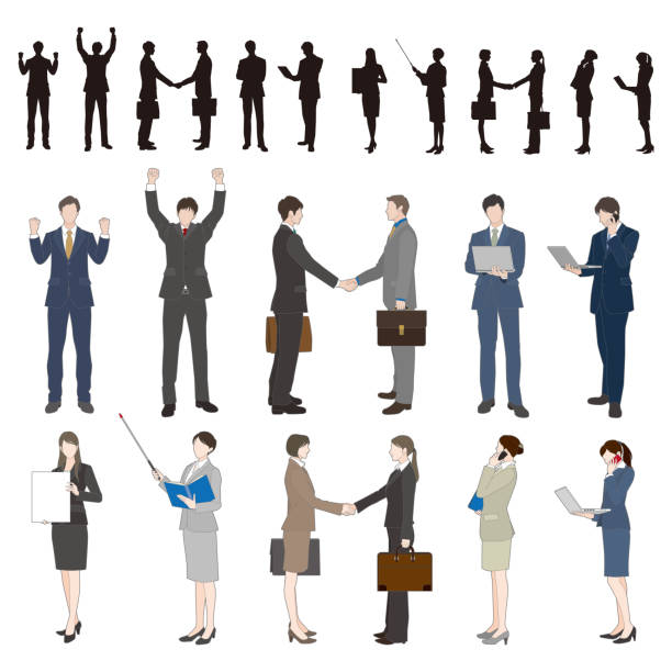 実業家 - ビジネスマン 日本人点のイラスト素材/クリップアート素材/マンガ素材/アイコン素材