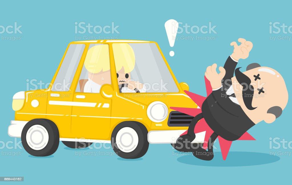 Kaufmann Auto Unfall Vektor Stock Vektor Art und mehr Bilder von ...