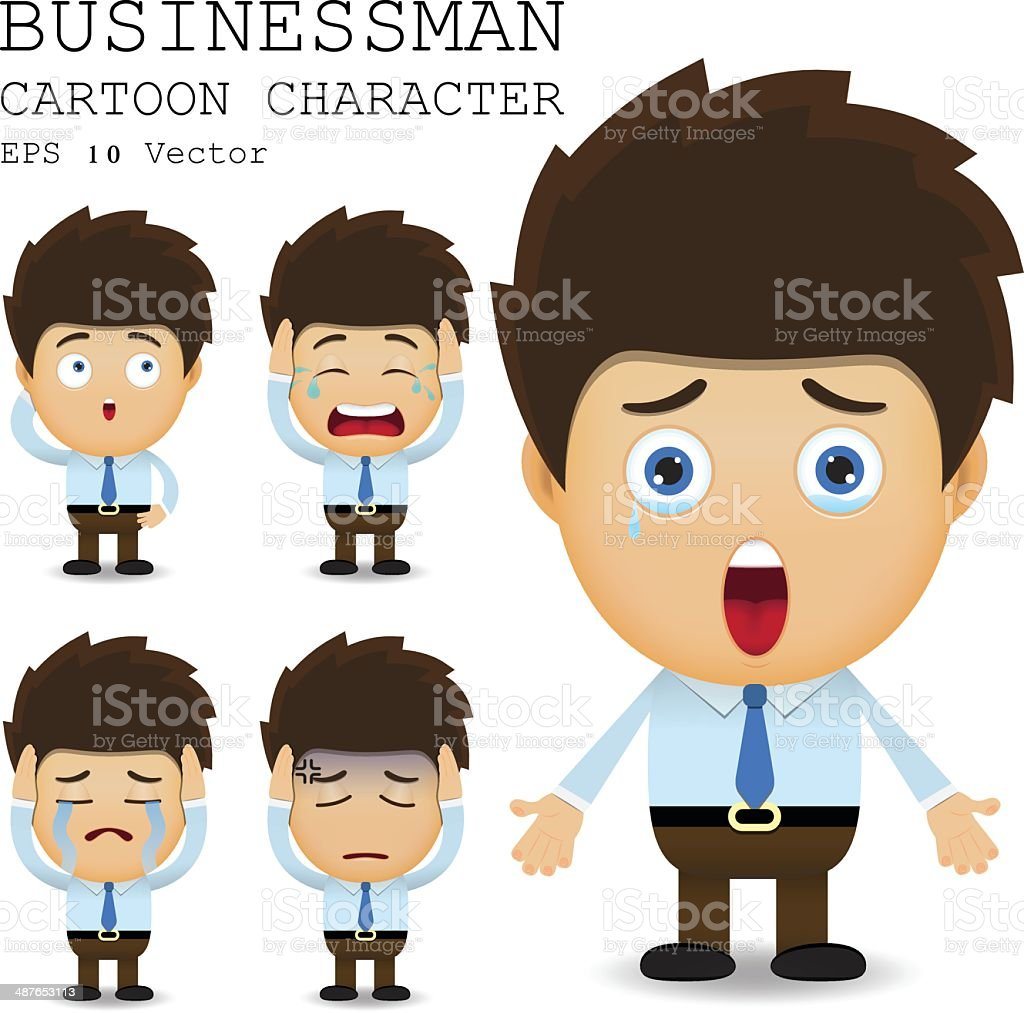 Businessman cartoon character EPS 10 vector vector art illustration