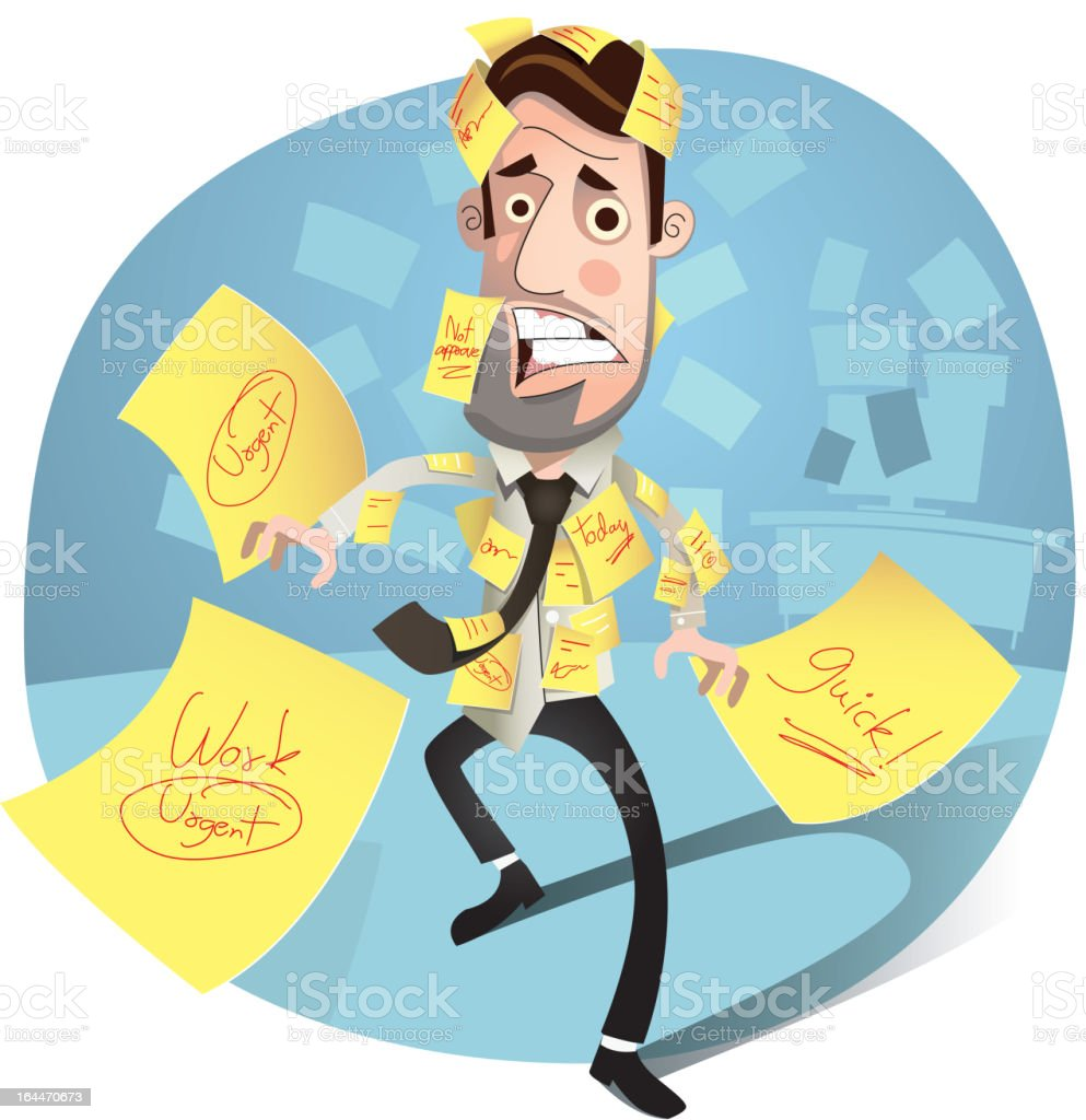 Businessman. Cartoon character. royalty-free stock vector art
