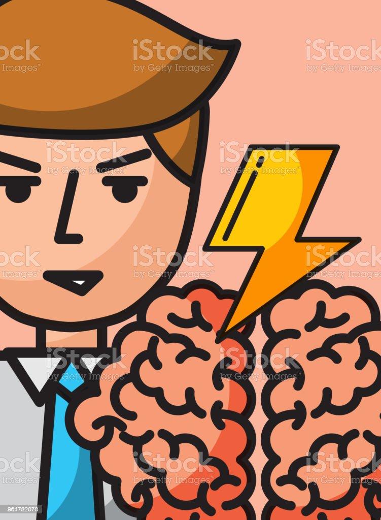 businessman cartoon creativity brain brainstorm royalty-free businessman cartoon creativity brain brainstorm stock vector art & more images of adult