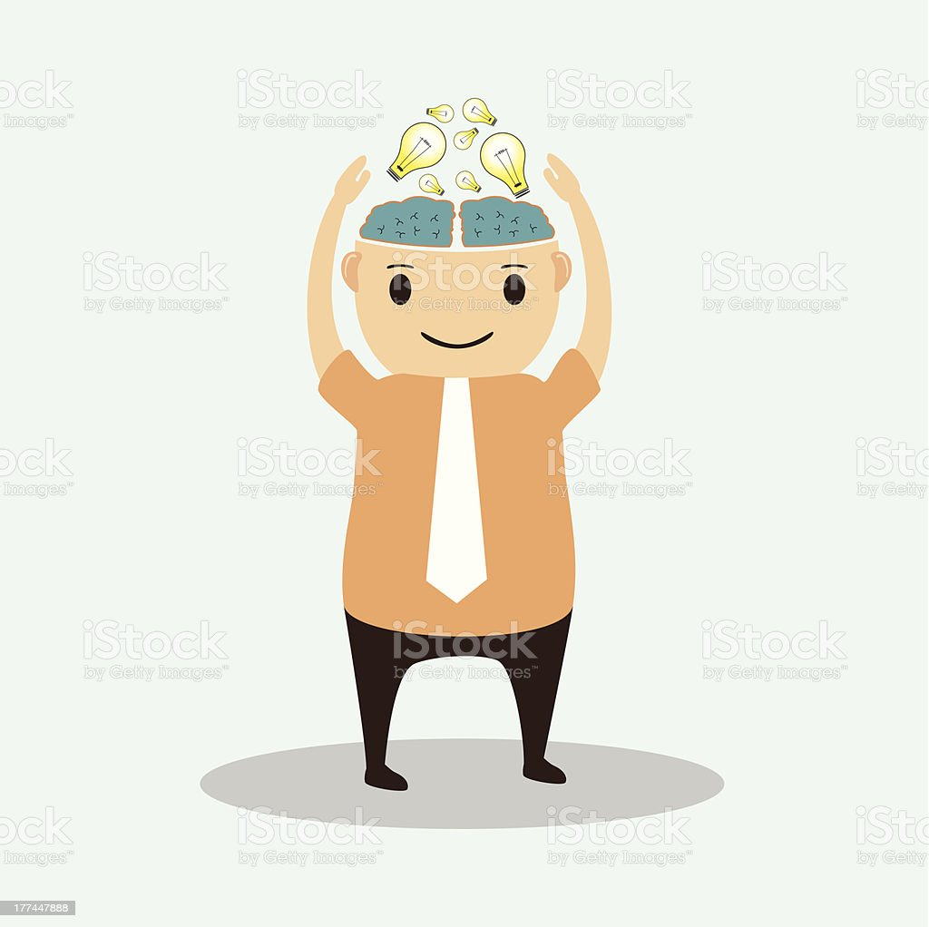 Businessman cartoon with addition Creative idea royalty-free businessman cartoon with addition creative idea stock vector art & more images of achievement