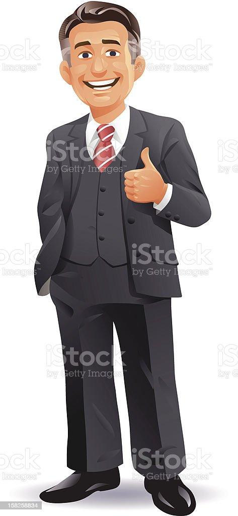 Businessman CEO vector art illustration