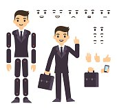 Businessman character animation