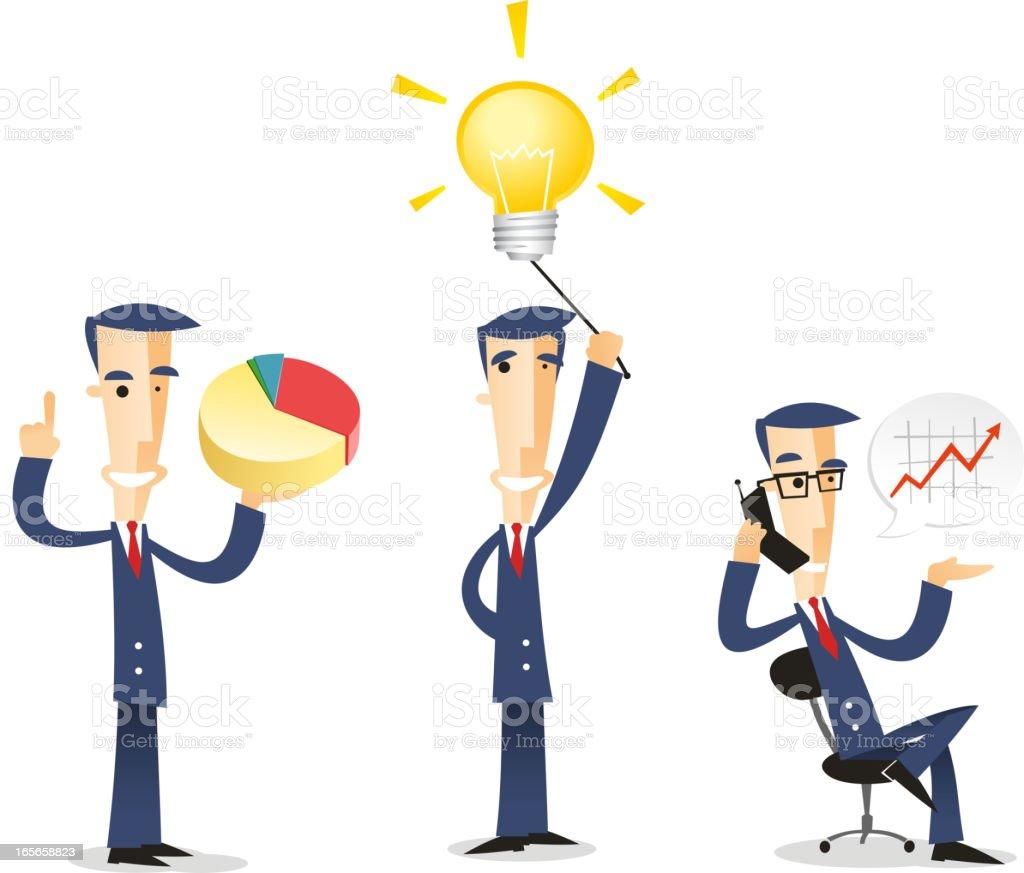 Businessman character set 03 royalty-free stock vector art