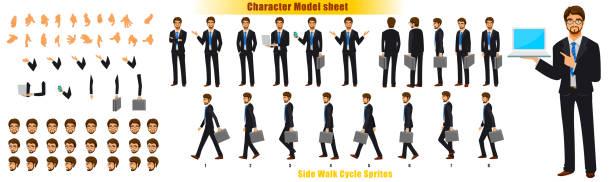 illustrations, cliparts, dessins animés et icônes de redressement de caractère d'homme d'affaires - modèles de bande dessinée