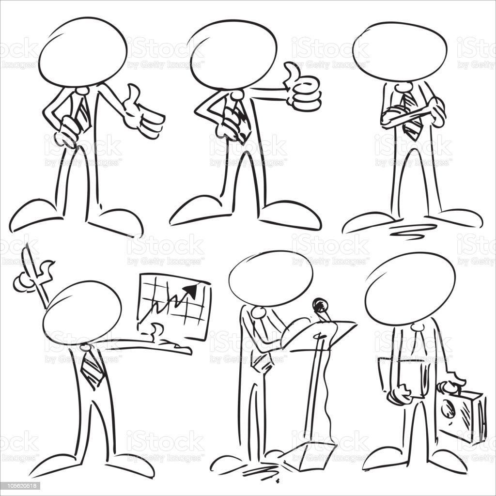 Homme d'affaires caractères - Illustration vectorielle