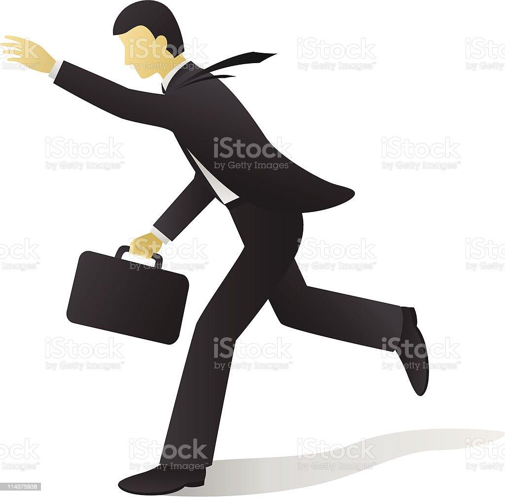 Businessman - Chasing vector art illustration