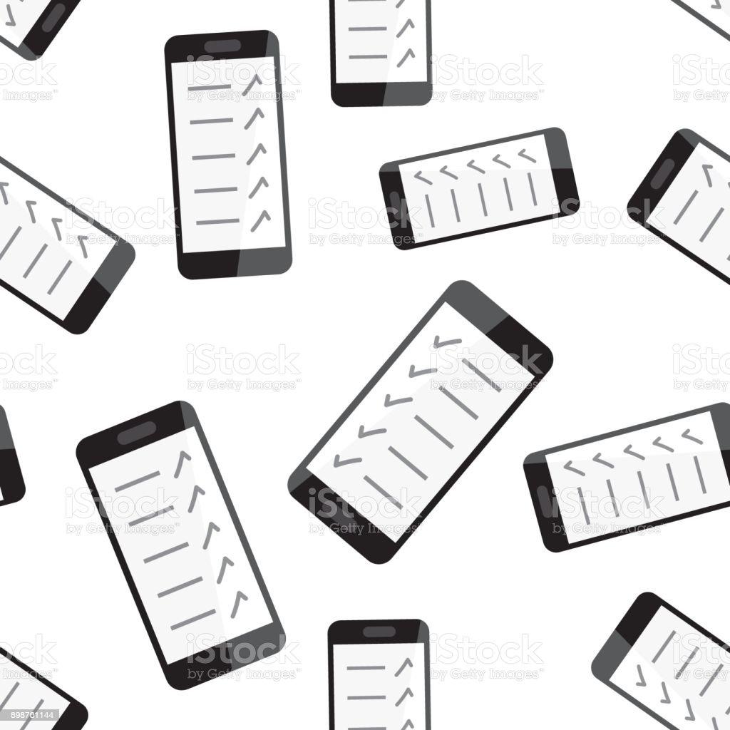 Geschäftsmann Checkliste Mit Smartphone Musterdesign Hintergrund ...