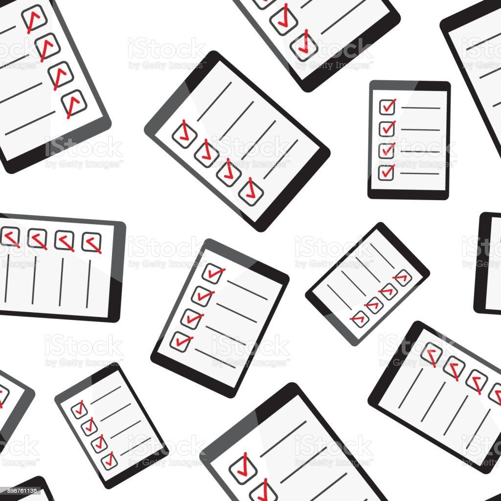 Geschäftsmann Checkliste Mit Tablet Pc Musterdesign Hintergrund ...