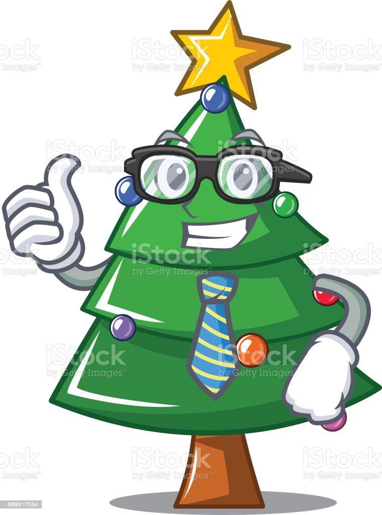 Weihnachtsbaum Clipart.Geschäftsmann Weihnachtsbaum Charakter Cartoon Stock Vektor Art Und