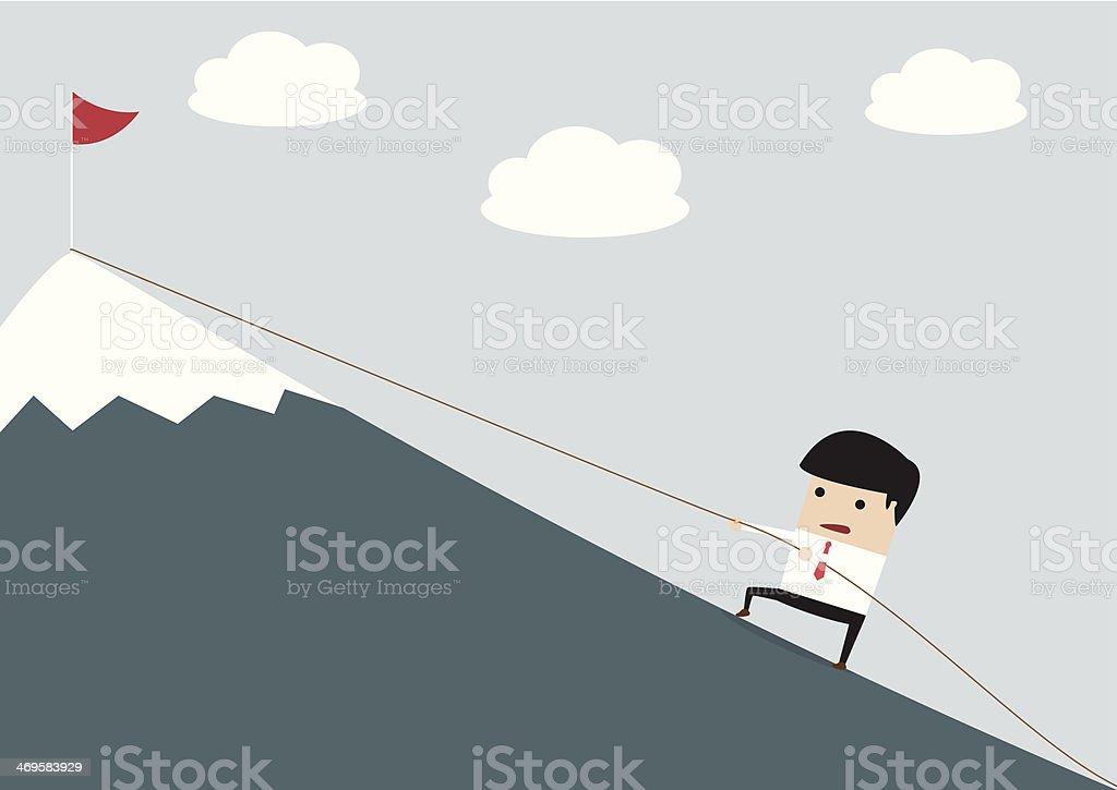 Businessman Climbing Hill royalty-free stock vector art