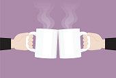 Working, Cheers, Mug, Relax, Drink, Coffee break