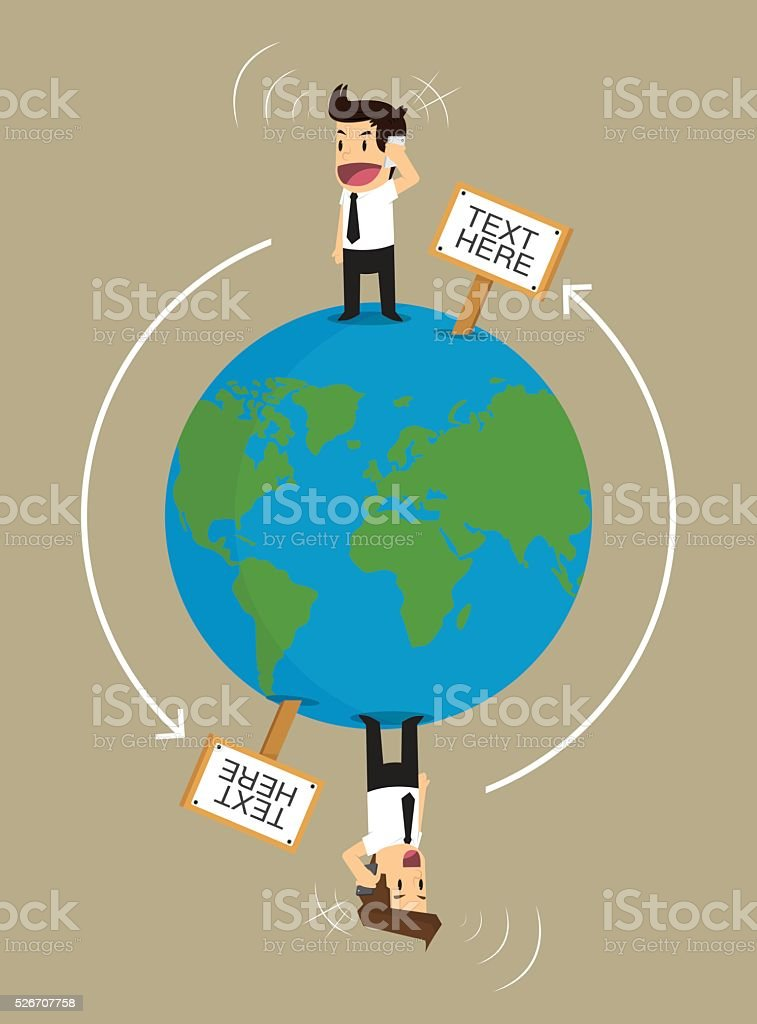 businessman communicate global Business vector art illustration