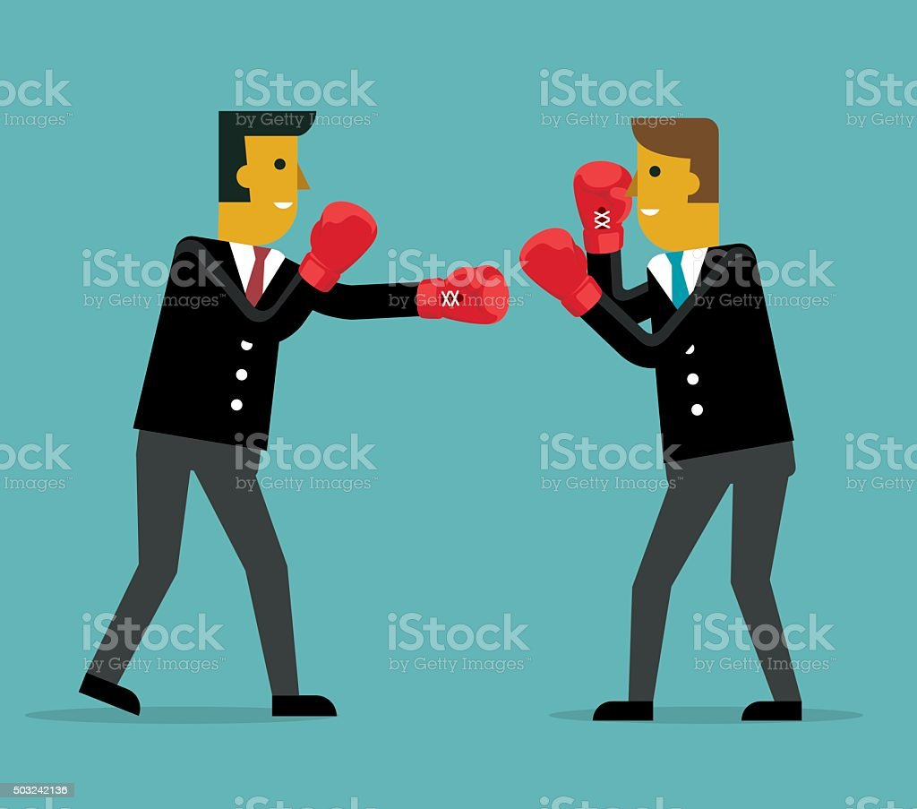 Businessman Competition vector art illustration