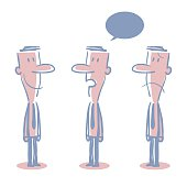 Businessman (teacher) Doodle Emotion, Talking, Smiling, Angry, Sad