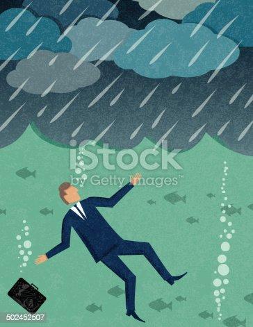 Businessman Drowning
