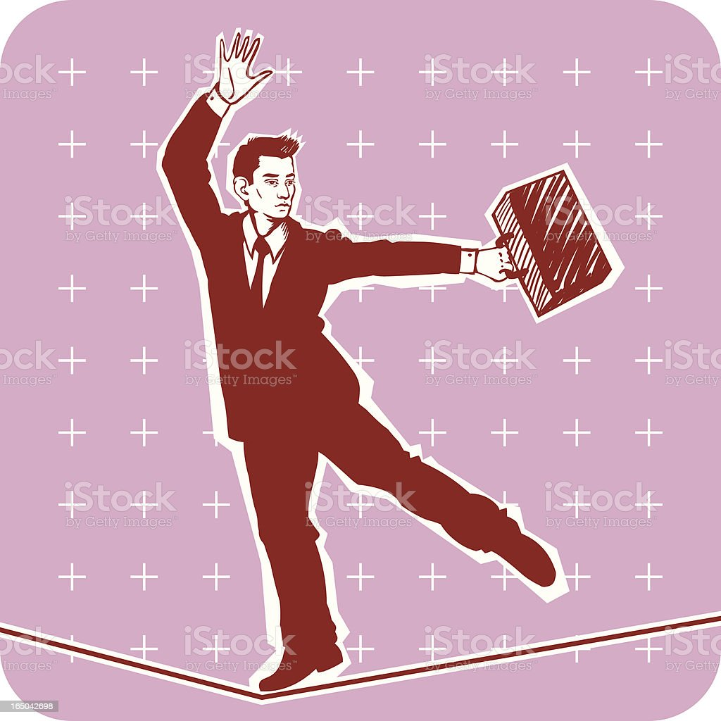 Businessman Equilibrist royalty-free stock vector art
