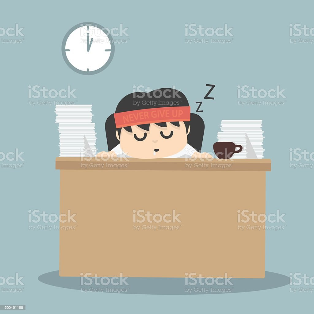businessman falling asleep royalty-free businessman falling asleep stock vector art & more images of adult