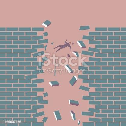 Businessman falling