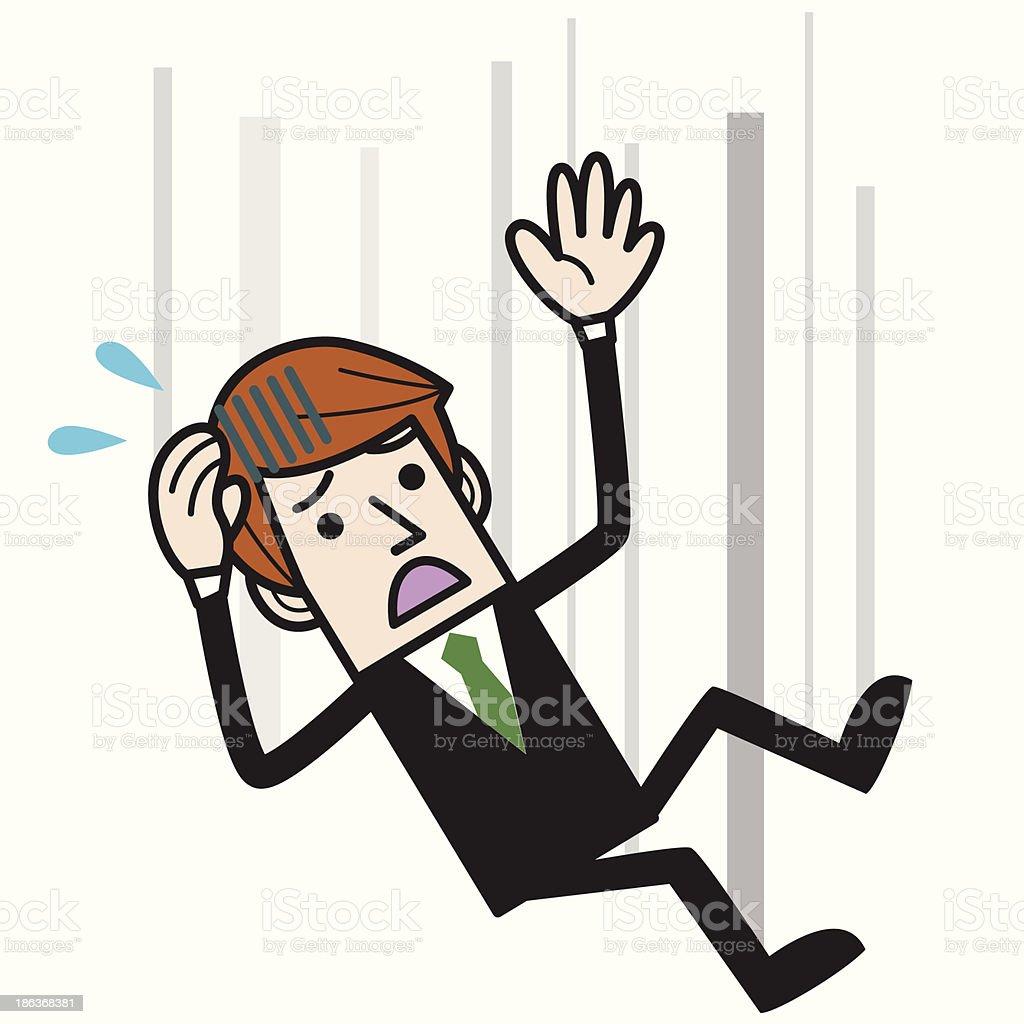 Businessman falling royalty-free stock vector art