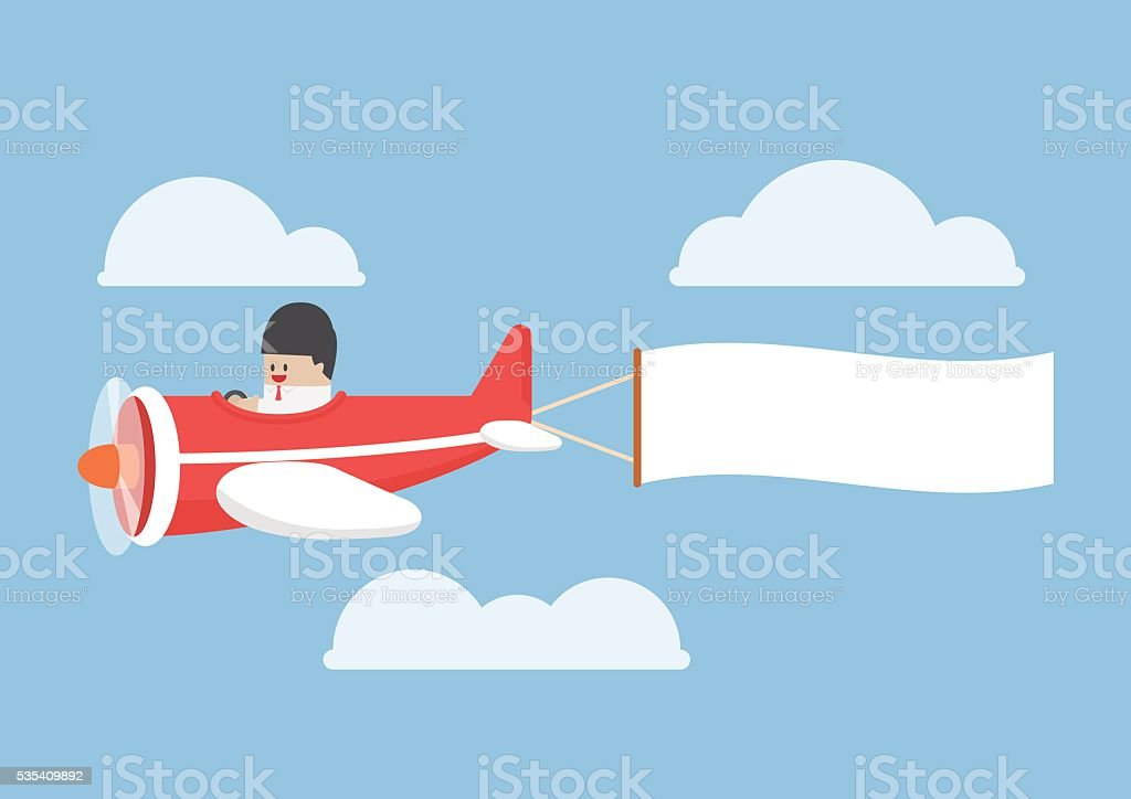 royalty free plane banner clip art vector images illustrations rh istockphoto com airplane pulling banner clipart aeroplane with banner clipart