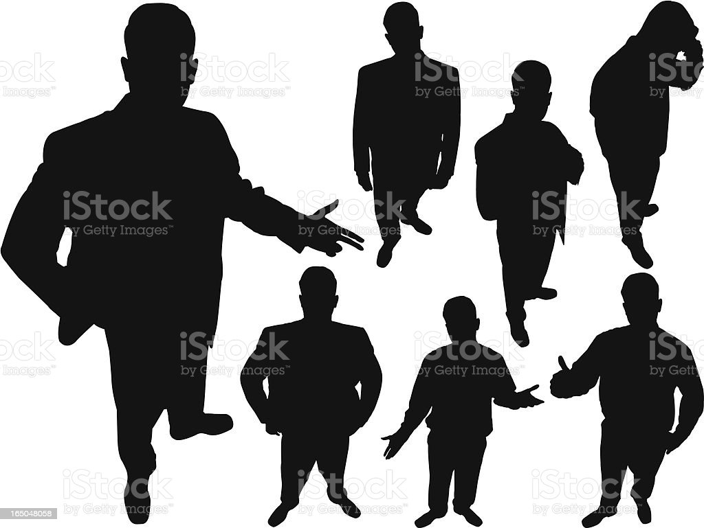 Businessman From Above Series royalty-free stock vector art